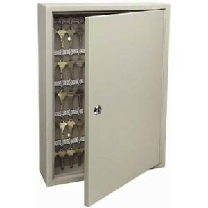 Key Storage Lock Box Cabinet Keyed Entry Wall Mount Entry Metal Safe Holds 120