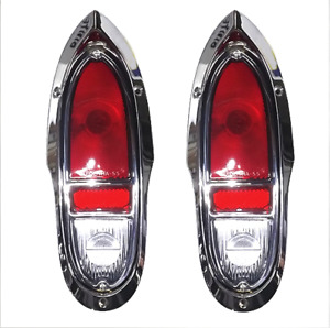 Chevy Cameo Gmc Truck Taillight Set Complete 1955 1958 Premium Quality Billet Al