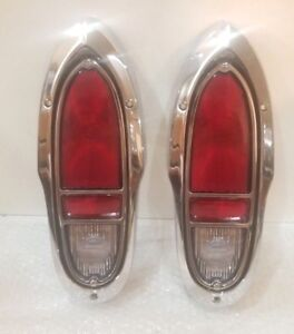 Chevy Cameo Gmc Truck Taillight Set Complete 1955 1958 Premium Quality Chrome
