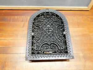 Antique Cast Iron Domed Heat Vent Fireplace Grate