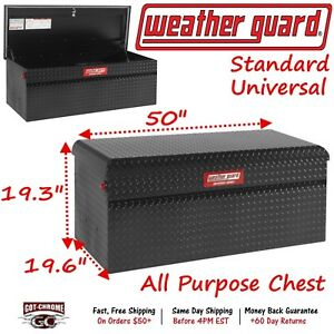 300401 53 01 Weather Guard Defender Black Aluminum 50 Chest Truck Toolbox