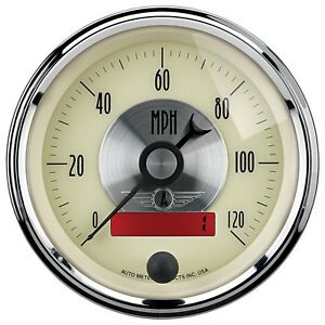 Autometer 2087 Prestige Series Antique Ivory Electric Programmable Speedometer