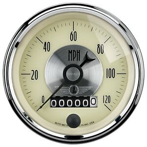Autometer 2089 Prestige Series Antique Ivory Electric Programmable Speedometer