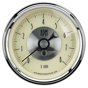 Autometer 2097 Prestige Series Antique Ivory Electric Tachometer