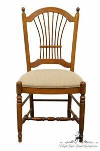 Ethan Allen Country French Collection Wheat Back Dining Side Chair 26 6201