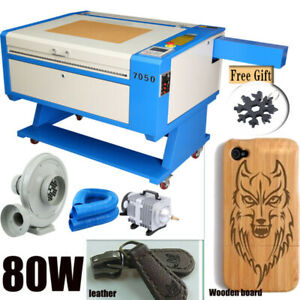 80w Co2 Usb Laser Cutter Engraving Cutting Machine 700x500mm Up And Down Table
