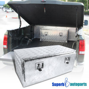 36 X18 X16 Truck Under Bed Tool Box Underbody Storage Trailer Pickup W Lock