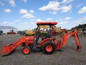 2014 Kubota B26 Tractor loader backhoe 4wd Hydro 26hp Diesel Engine 1140hrs