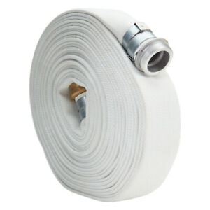 White 2 X 50 Single Jacket Lay Flat Discharge Hose