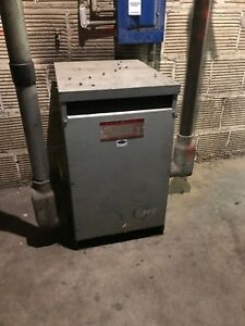 General Electric 75kva 1 Phase Transformer 480 240 Hv 240 120 Lv