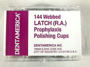 Dentamerica Dental Polishing Prophy Prophylaxis Cups Latch ra Type Webbed Pcs
