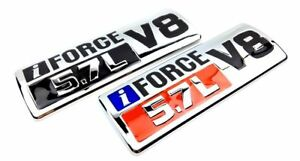 Metal Iforce 5 7l V8 Car Side Body Trunk Emblem Badge Sticker Decal For Toyota