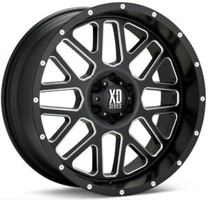 20 Inch Black Wheels Rims Lifted Ford F250 F350 Xd Series Xd820 Grenade 20x10 4