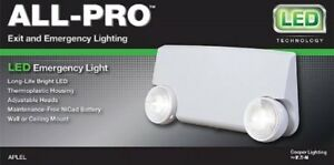 3 Each All pro Led Exit Emergency Combo Cooper Lighting model Apel