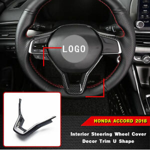 Carbon Fiber Abs Interior Steering Wheel Cover Trim Fit For Honda Accord 2018 Us