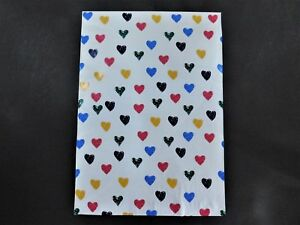 100 14 5x19 Designer Colorful Hearts Mailers Poly Shipping Envelope Boutique Bag