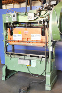 40 Ton X 4 Used Rousselle Straight Side Single Crank Press Mdl 4ss56 A4029
