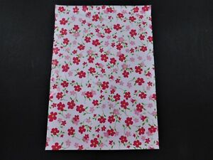 100 14 5x19 Designer Pink Flowers Mailers Poly Shipping Envelope Boutique Bag
