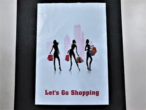 100 14 5x19 Lets Go Shopping Mailers Poly Shipping Envelope Boutique Bag