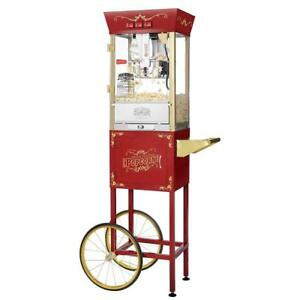 Great Northern Popcorn Red Matinee Movie 8 Oz Ounce Antique Machine And Cart