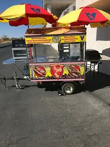 Concession Mobile Food Cart hot Dogs burgers pizza beverages hot Water