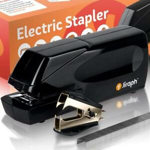 Jiraph Electric Stapler With Staple Remover And 25 sheet Capacity loaded