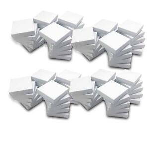 The Display Guys Pack Of 100 Cotton Filled Cardboard Paper White Jewelry