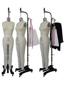 Professional Female Full Body Dress Form W Collapsible Shoulder