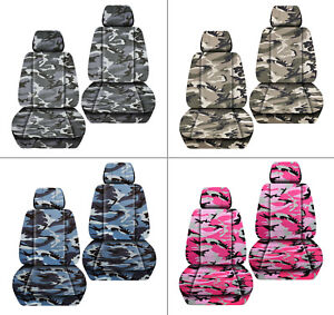 Front Set Car Seat Covers Urban Camouflage Tan gray blue pink Fits Jk Wrangler
