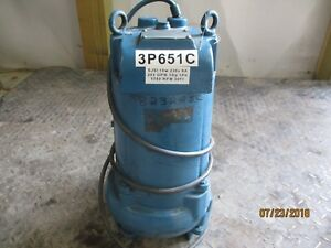 Goulds Submersible Pump 823225c Sn 4349 230v 1hp 3 1 2 203 gpm Used