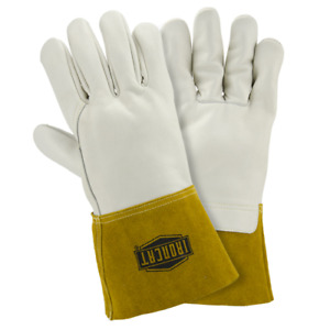 Large Ironcat Heavyweight Top Grain Cowhide Mig Welding Gloves Dozen