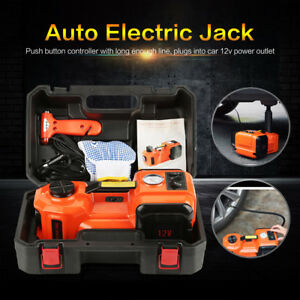 Portable 3 In1 Function Car Electric Hydraulic Jack Impact Wrench Air Compressor