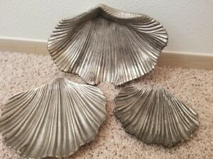 Silver Plate Clamshell Serving Platters