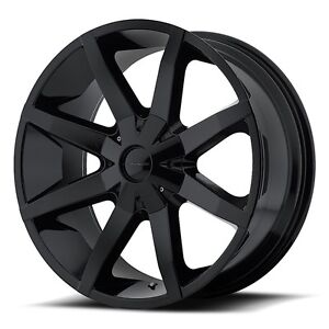 20 Inch Black Wheels Rims Wheels Rims Chevy Truck C10 Astro Tahoe 5x5 Lug Kmc