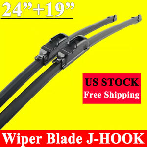 Windshield Wiper Blades J Hook Oem Quality 24 19 Inch Bracketless All Season