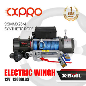 X Bull Electric Winch 12v 13000lbs Synthetic Rope Off Road Towing Truck