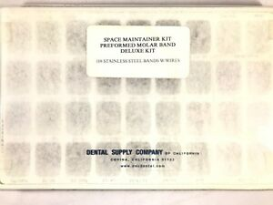 Dental Space Maintainer Kit Preformed Molar Band 108 Bands W Wires Made In Usa