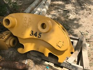 Used 345 350 Caterpillar Quick Coupler In Great Condition With Hoses