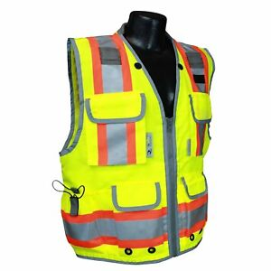 Radians Sv55 2zgd m Medium Class 2 Heavy Woven Engineer Vest Green