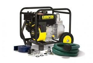 Champion 2 inch Gas powered Semi trash Water Transfer Pump With Hose And