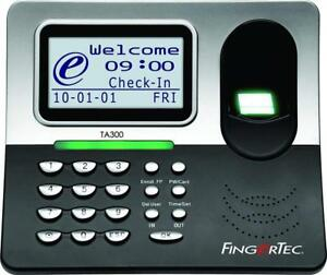 Fingertec Ta300 Desktop Time Clock Attendance Fingerprint Terminal Totally