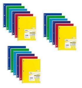 Mead Spiral Notebooks 1 Subject Wide Ruled Paper 70 Sheets 10 1 2 X