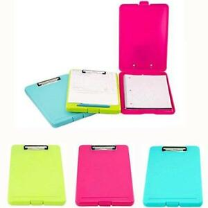 Adorox Set Of 3 Legal Size Slim case Storage Clipboard Teal Pink Neon Green