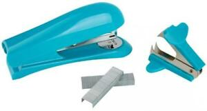 Office Depot Brand Half strip Stapler With Staples And Remover aqua