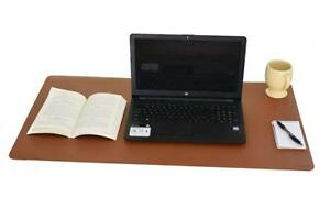 Kmco Extra Large Faux Leather Desk Pad 36 X 20 Brown