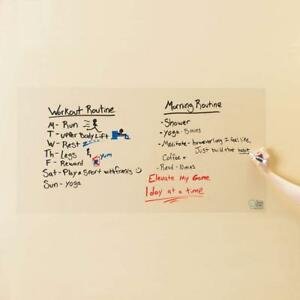Think Board Clear Self adhesive Whiteboard Wall Sticker 24 X 48 Peel And