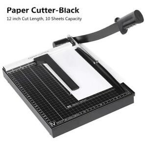 Black Guillotine Paper Cutter Machine Heavy Duty Cutting Blade Gridded