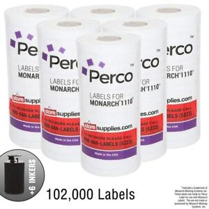 White Pricing Labels For Monarch 1110 Price Gun 6 Sleeves 102 000