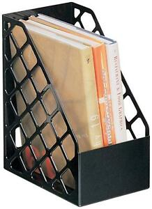Officemate Recycled Large Magazine File Black 6 Each 26083