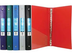 Bazic 1 Matte Color Poly 3 ring Binder W Pocket For School Home Or